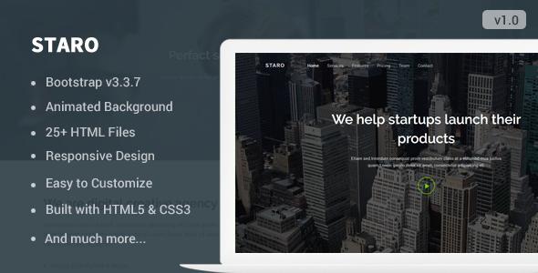 Staro — Responsive Landing Page Template