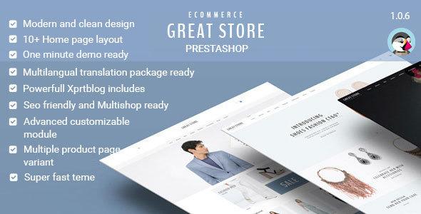 GREAT STORE — eCommerce Prestashop Theme