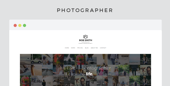 Photographer v1.3 — A Template For Photographers