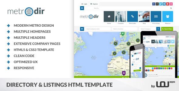 Metrodir — Directory & Listings HTML Template