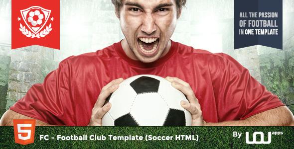 FC — Football Club Template (Soccer HTML)