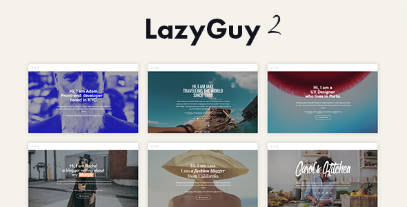 LazyGuy 2 — Personal Landing Page Template for Everyone