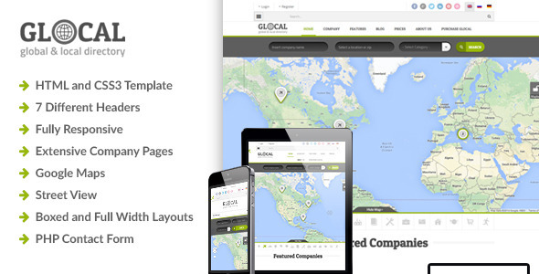 Glocal — Responsive Directory Template — Updated