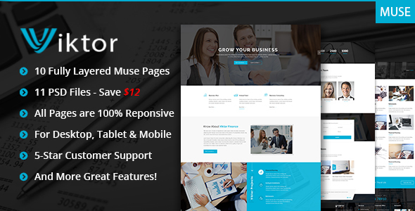 Viktor — Responsive Corporate Muse Theme