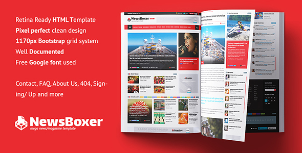 NewsBoxer — Mega News Magazine Template