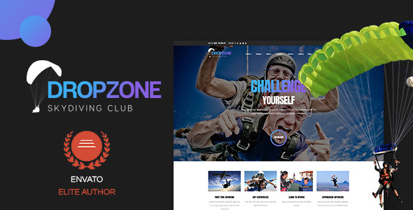 Dropzone v1.0.1 — Skydiving Club Responsive WordPress Theme