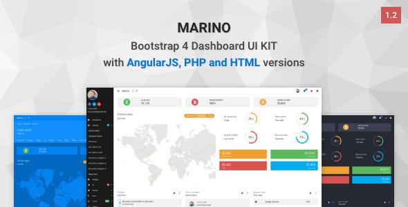 Marino — Bootstrap 4 Dashboard UI Kit