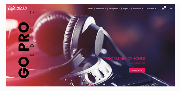 Mixer — Headphone & Audio Responsive Shopify Theme