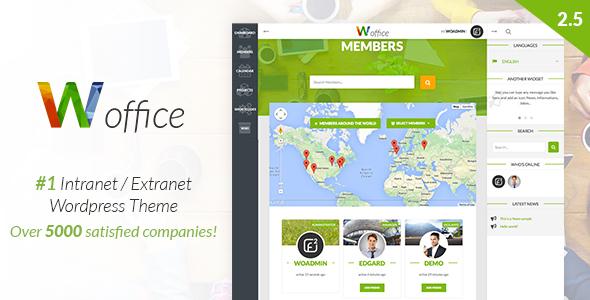 Woffice v2.5.3 — Intranet/Extranet WordPress Theme