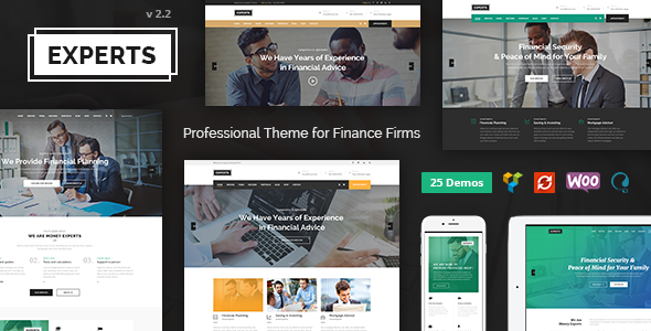 Experts Business — Professional Theme for Finance Firms