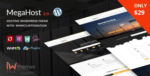 Megahost v2.0 — Hosting WordPress Theme with WHMCS