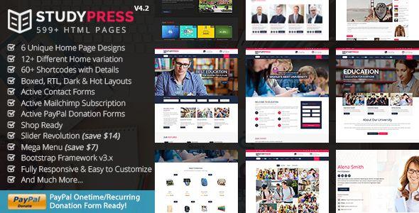 StudyPress v4.2 — Best Education & Courses HTML5 Template
