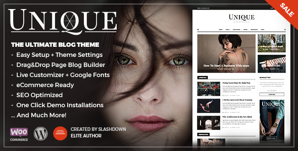 Unique v1.0.5 — Personal & Magazine Responsive Blog Theme