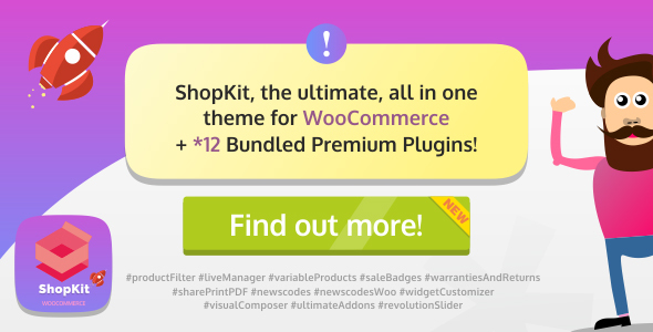 ShopKit v1.2.0 — The WooCommerce Theme