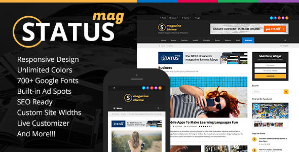 Status Magazine v1.2.0 — WordPress Theme