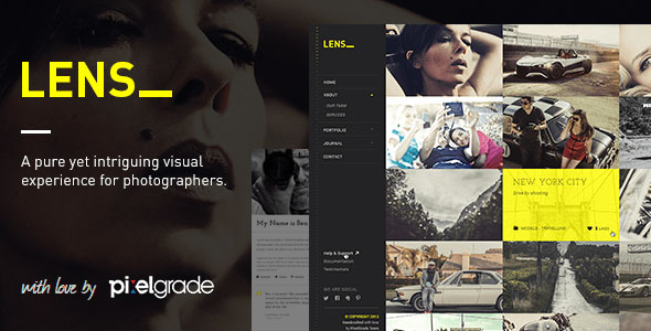 LENS v2.4.9 — An Enjoyable Photography WordPress Theme