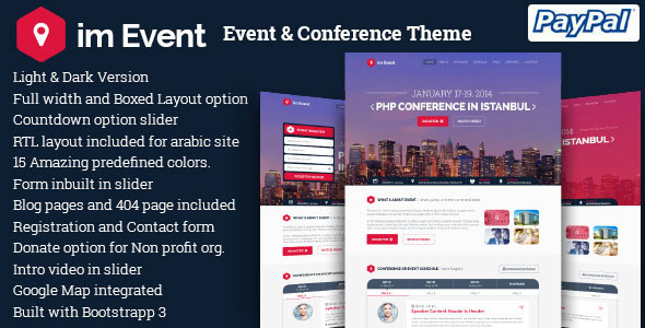 im Event v3.1.4 — Event & Conference WordPress Theme