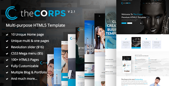 The Corps — Multi-Purpose HTML5 Template