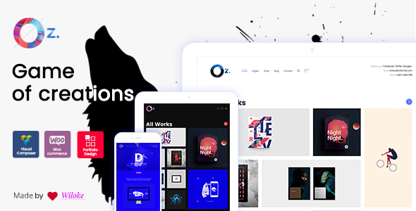OZ v1.0.2 — Game of Creations Creative WordPress Theme