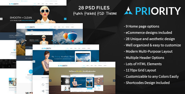 Priority — Multi-Purpose PSD Template