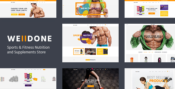 Welldone v1.7 — Sports & Fitness Nutrition and Supplements Store