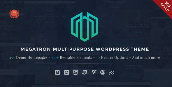 Megatron v2.5 — Responsive MultiPurpose WordPress Theme
