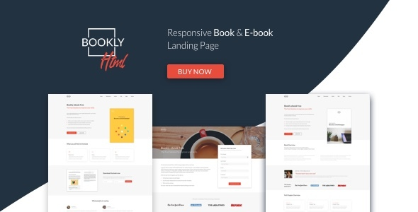 Bookly — The Perfect Landing Page, Book & Ebook