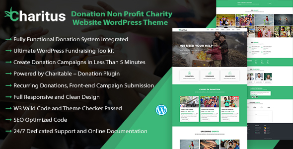 Charitus — Charity WordPress Theme with Donation System