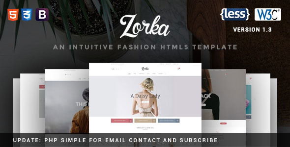 Zorka v1.3 — An Intuitive Fashion HTML5 Template