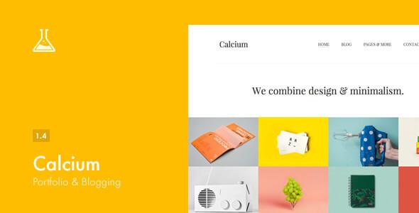 Calcium v1.4 — Minimalist Portfolio & Blogging Theme