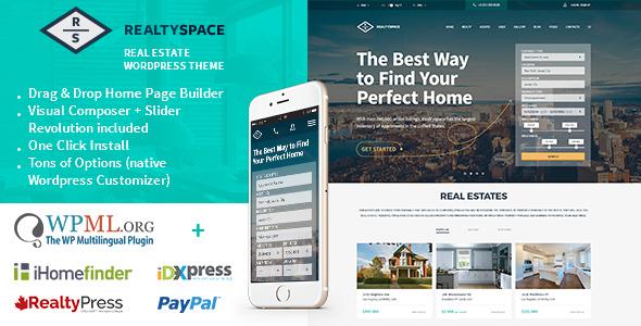 Realtyspace v1.4.10 — Real estate WordPress Theme