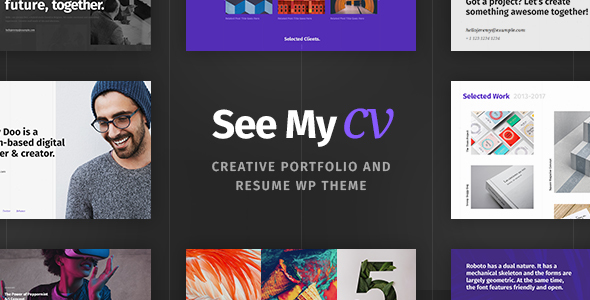 See My CV v1.0.3 — Resume & vCard WordPress Theme