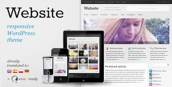 Website v6.0 — Responsive WordPress Theme
