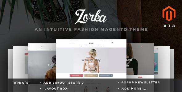 ZORKA v1.8 – Wonderful Fashion eCommerce Magento Themes