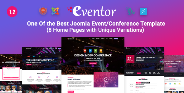 Eventor — Conference & Event Joomla Template