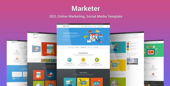 Marketer — SEO, Online Marketing, Social Media Template
