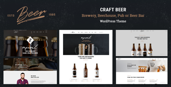 Craft Beer v1.0.4 — Brewery or Pub WordPress Theme