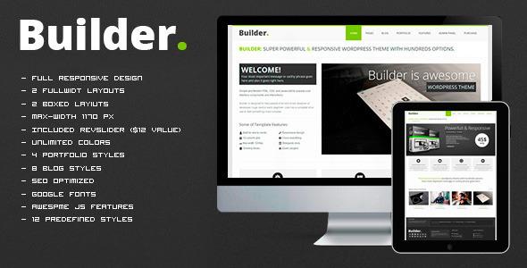 BUILDER v1.1 — Responsive HTML Template