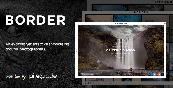 BORDER v1.8.2 — A Delightful Photography WordPress Theme