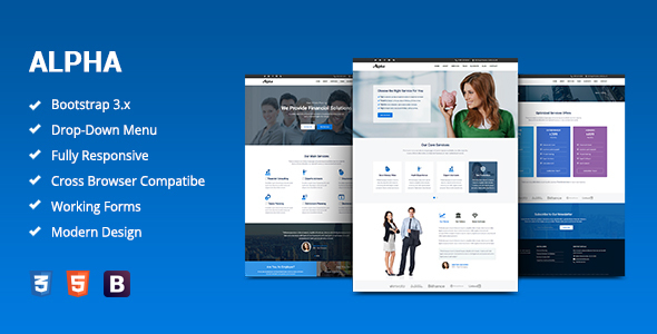 Alpha — Business Consulting and Financial Services HTML Template