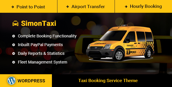 SimonTaxi v1.0 — Taxi Booking WordPress Theme