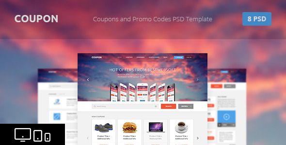 Coupon — Coupons and Promo Codes PSD Template