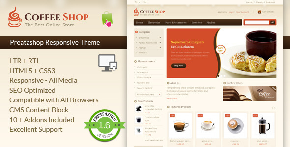 Coffee Shop — Prestashop Responsive Template