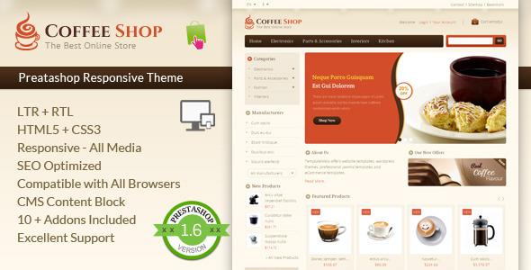 Coffee Shop — Prestashop Responsive Template
