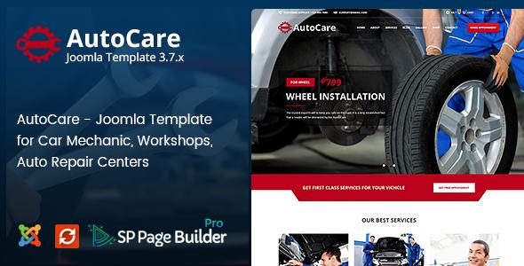 Auto Care — Joomla Template for Car Mechanic, Workshops, Auto Repair Centers