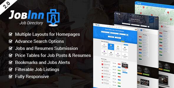 JobInn — Job Board & Directory HTML Template