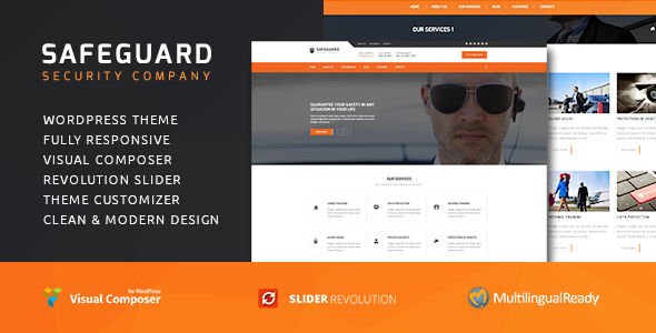 Safeguard v1.4.2 — Security Services WordPress theme