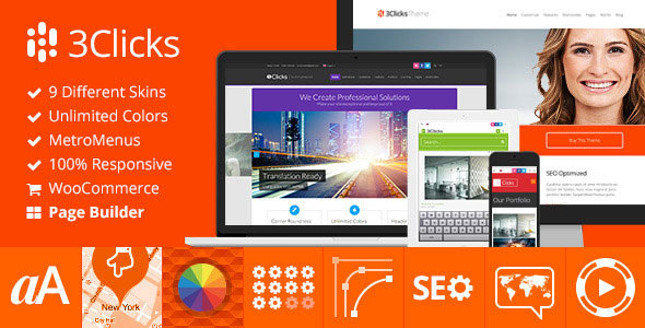 3Clicks v3.11 — Responsive Multi-Purpose WordPress Theme