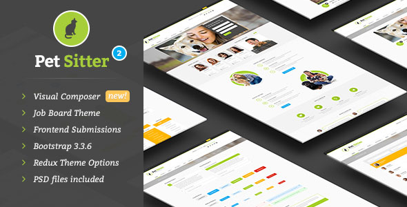 PetSitter v2.2.0 — Job Board Responsive WordPress Theme
