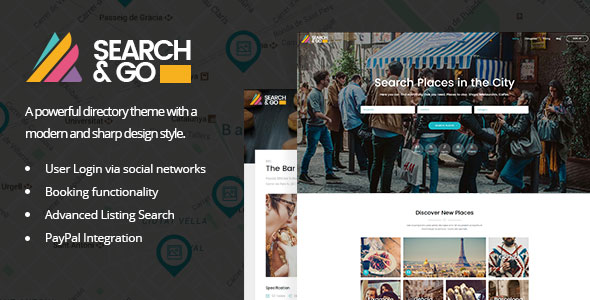 Search & Go v1.9 — Modern & Smart Directory Theme